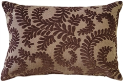 Brackendale Ferns Brown Rectangular Throw Pillow