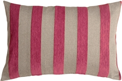 Brackendale Stripes Pink Rectangular Throw Pillow