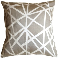 Criss Cross Stripes Gray Throw Pillow
