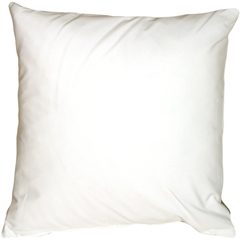 Caravan Cotton White 23x23 Throw Pillow