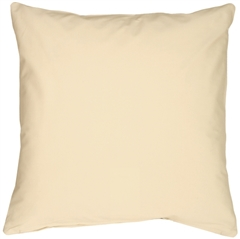 Caravan Cotton Cream 16x16 Throw Pillow