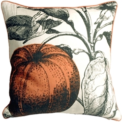Thomas Paul Orange Mandarin 18X18 Throw Pillow