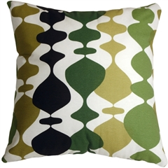 Lava Lamp Green 20x20 Throw Pillow