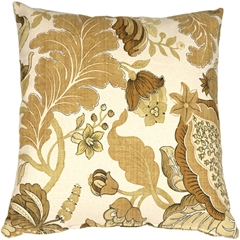 Harvest Floral Yellow 20x20 Throw Pillow