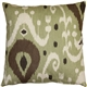 Indah Ikat Green 20x20 Throw Pillow