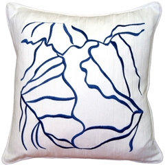 Summer Breeze Blue 20x20 Throw Pillow