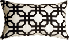 Waverly Groovy Grille Licorice 12x20 Throw Pillow