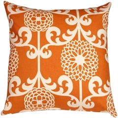 Waverly Fun Floret Citrus Orange 20x20 Throw Pillow