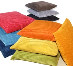 Wide Wale Corduroy 22x22 Throw Pillows