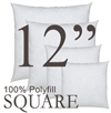 12x12 Square Polyfill Throw Pillow Insert