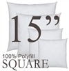 15x15 Square Polyfill Throw Pillow Insert