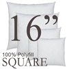 16x16 Square Polyfill Throw Pillow Insert