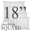 18x18 Square Polyfill Throw Pillow Insert