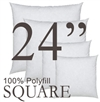 Polyfill Throw Pillow inserts in a range of sizes and shapes.