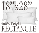 18x28 Rectangular Polyfill Throw Pillow Insert