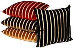 Monroe Velvet Stripes 22x22 Throw Pillows