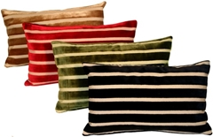 Monroe Velvet Stripes 12x20 Throw Pillows