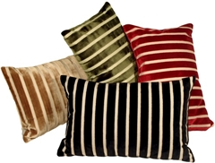 Monroe Velvet Stripes 16x24 Throw Pillows