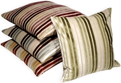 Velvet Multi Stripes 20x20 Throw Pillows