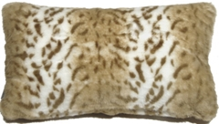 Tawny Lynx Faux Fur 12x20 Throw Pillow