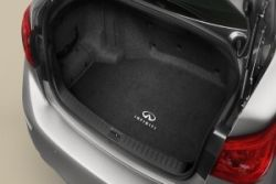 2017 Infiniti Q50 Carpeted Trunk Mat (Black with Infiniti Logo) - Hybrid | 999E3-J2001