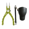 "7.5"" Admiral Aluminum Tournament Pliers Chartreuse Fish Bone"