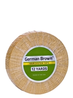 "German Brown 3/4"" x 12yds - Hair Tape Adhesive -- Walker Tape"