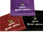 Pastor towels, customized pastoral towel, pastoral towels, custom embroidered pastoral towels, clergy  towels, minister towels, apostle towels, evangelist towels, Preacher Towels, ordination gifts, pastor, minister, towels, clergy gifts