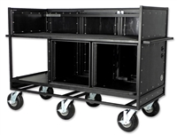 Triple Mixer Cart