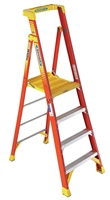 Fiberglass Podium Ladder - 6'