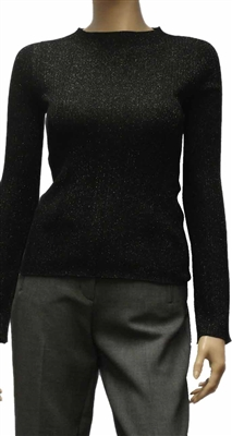 Marc Cain fine wool blend sparkled ribbed sweater. pc4110m54