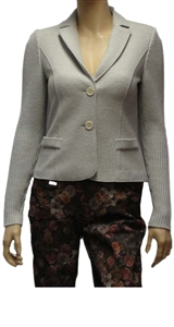 Marc Cain grey lightweight fitted wool jacket.