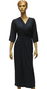 MaxMara Weekend Canore smokey blue jersey wrap dress