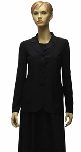 MaxMara Leisure Perle navy 3 button single breasted jacket