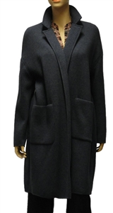 MaxMara Leisure blue jersey edge to edge coat