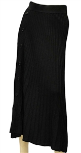 Pinko Boga black pleated skirt