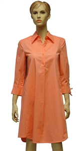 Riani coral shirt dress with 3/4 sleeves