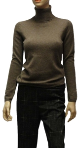 Estheme mid brown easy polo cashmere sweater.