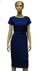 MaxMara Studio Golena royal blue knitted fabric dress