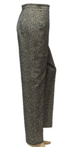 MaxMara Studio Gilbert jacquard two shaded grey fitted trousers