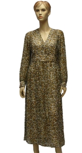 MaxMara Studio Geneve leopard print silk dress