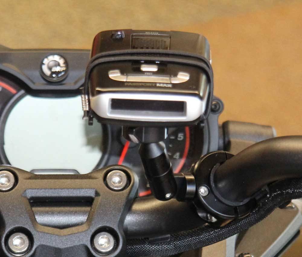 Police Radar Jammer >> Motorcycle Radar Detector Handlebar Mount with Extension ...