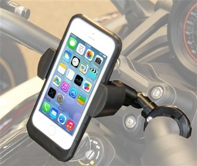 "Techmount Motorcycle Handlebar TechGripper Cellphone Mount with 3"" Extension"