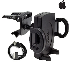 Escort Vent Mount and iPhone Power Cord