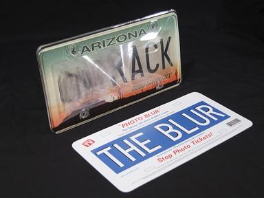 Photo Blur Camera Defense Anti-Photo License Plate Cover