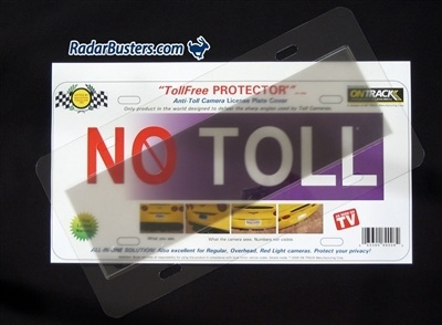 Toll Free Protector License Plate Cover