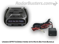 Uniden DFR7 & Hardwire Kit with Mute Button
