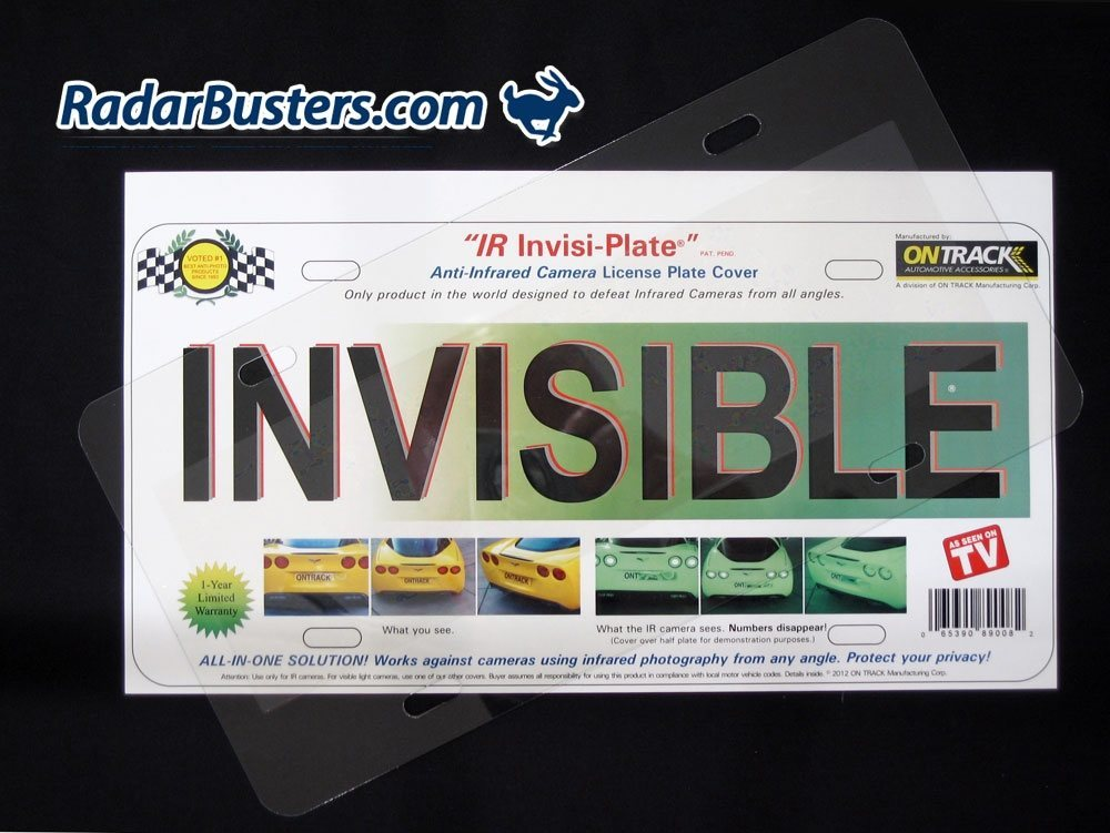 iR Invisi-Plate License Plate Cover - RadarBusters.com