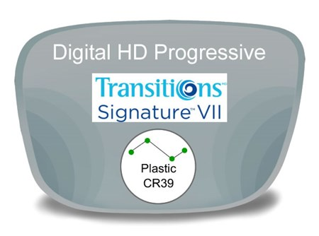 Digital (HD) Progressive Plastic Transitions VI Prescription Eyeglass Lenses