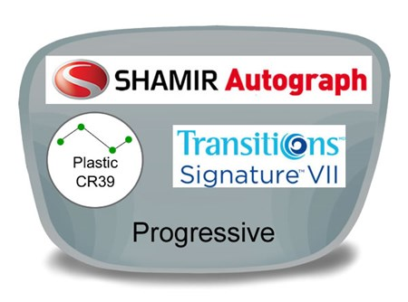 Shamir Autograph 2 Digital (HD) Progressive Plastic Transitions VI Prescription Eyeglass Lenses
